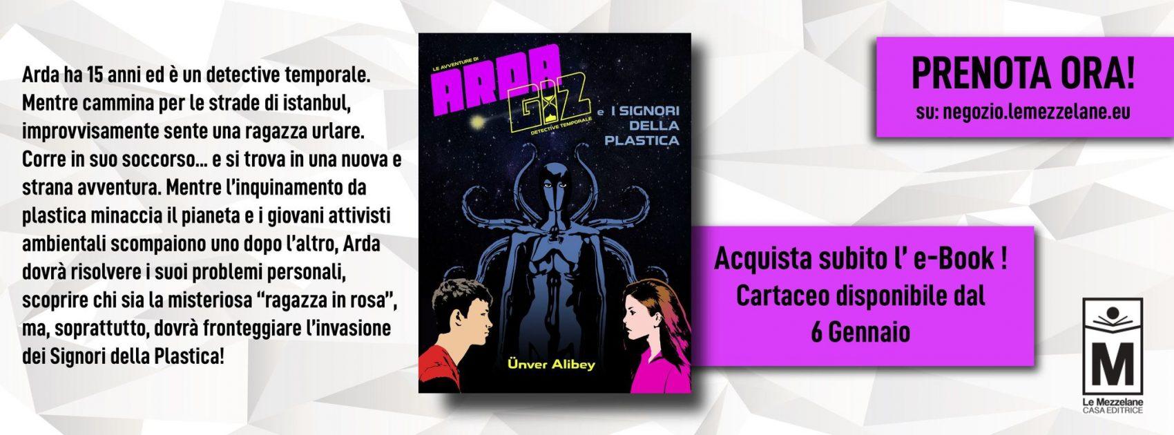 """Arda ha 15 anni ed è un detective temporale. Mentre cammina per le strade di istanbul, improvvisamente sente una ragazza urlare. Corre in suo soccorso... e si trova in una nuova e strana avventura. Mentre l'inquinamento da plastica minaccia il pianeta e i giovani attivisti ambientali scompaiono uno dopo l'altro, Arda dovrà risolvere i suoi problemi personali, scoprire chi sia la misteriosa """"ragazza in rosa"""", ma, soprattutto, dovrà fronteggiare l'invasione dei Signori della Plastica!"""